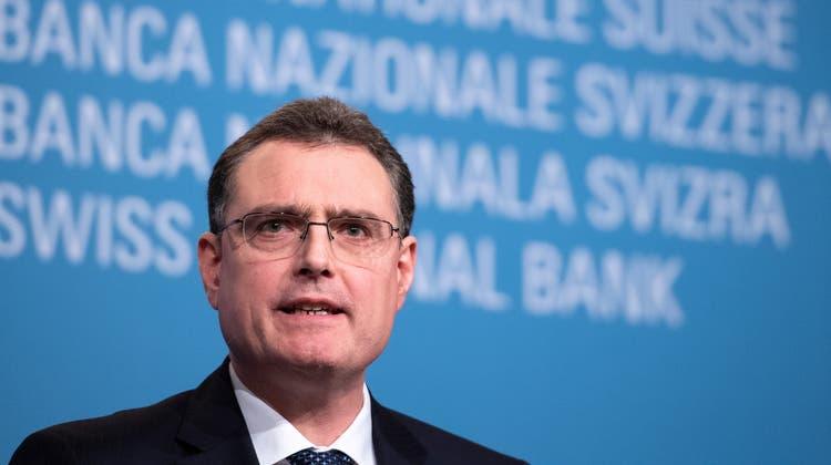 Nach einer Operation zurück auf seinem Posten: Nationalbankpräsident Thomas Jordan. (Anthony Anex / KEYSTONE)