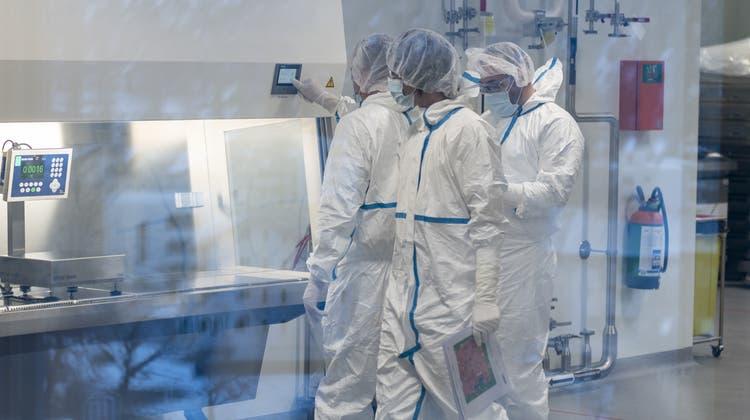 Lonza produziert am Standort in Visp (VS) den Wirkstoff für die Moderna-Impfung gegen Covid-19. (Keystone (25. März 2021))