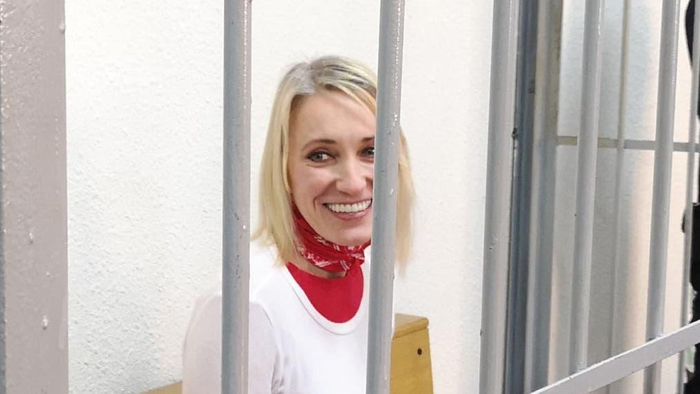 Natallia Hersche vor Gericht in Minsk im Dezember 2020. (Bild: Viasna)