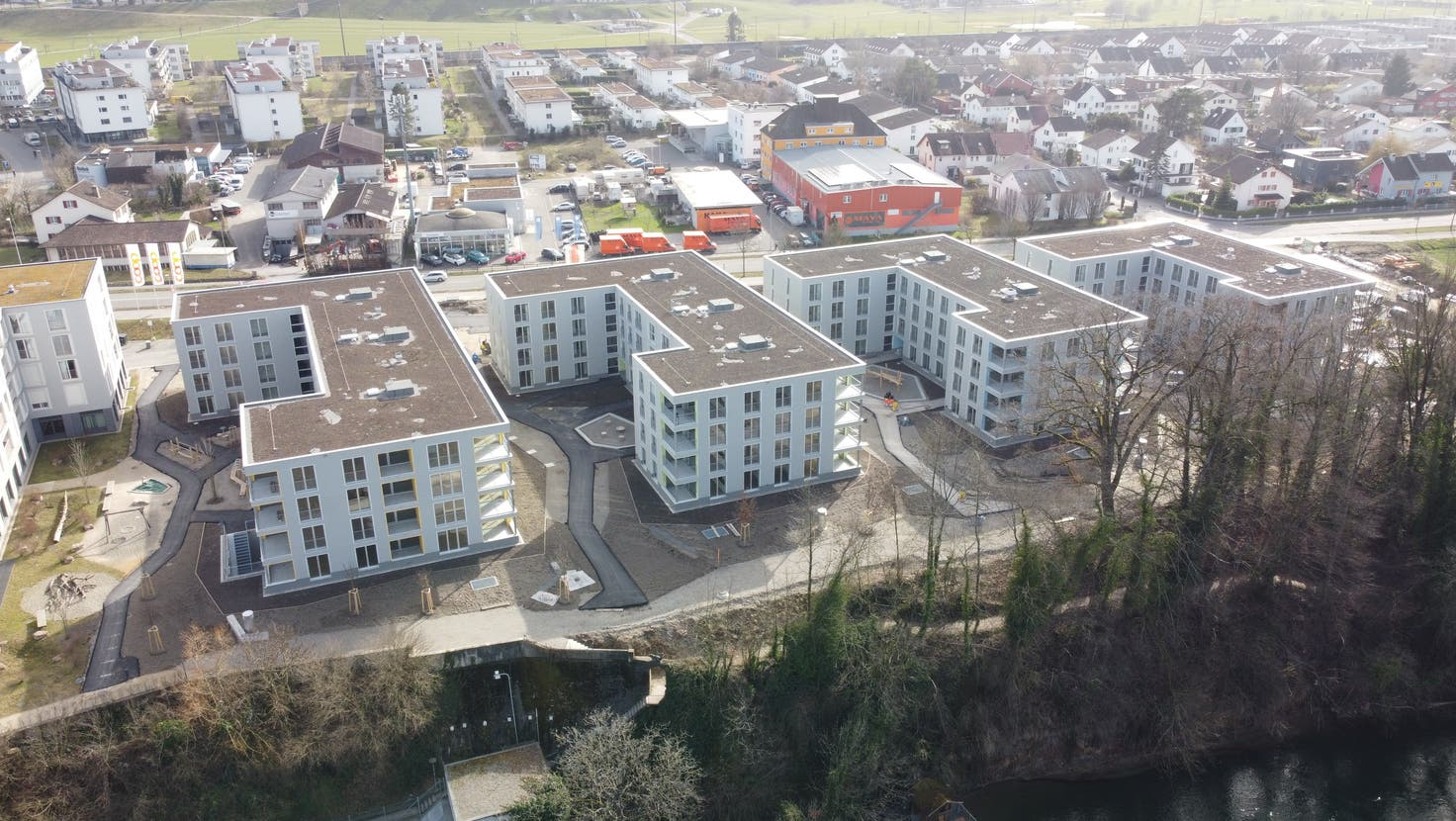 In Rheinfelden kamen mehrere grosse Überbauungen (wie der Salmenpark 2) auf den Markt, was dazu führte, dass in der Gemeinde und im ganzen Bezirk die Leerstände hochgingen. Übrigens war es der einzige Bezirk im Aargau mit mehr leer stehenden Wohnungen als 2020. (Zvg / Aargauer Zeitung)
