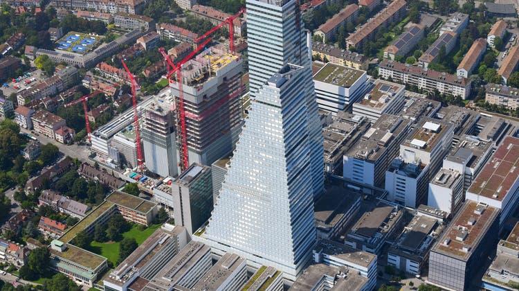 Der Turmbau zu Basel – fotografiert aus der Luft. (Erich Meyer)