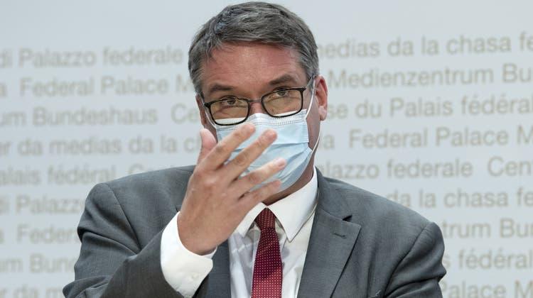 Noch-Ständerat Christian Levrat bei seiner Ernennung zum Post-Präsidenten. (Marcel Bieri / KEYSTONE)