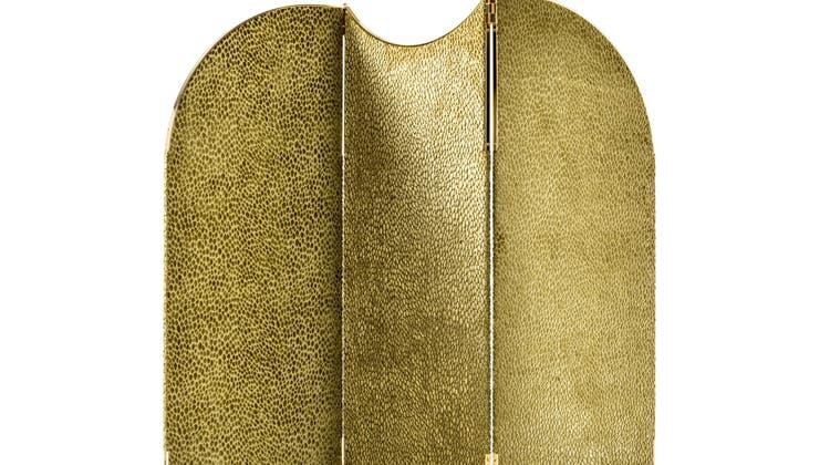 Mit Stoff bezogen und auf vergoldeten Füssen: Aliseo von Black Tie, 5990 Fr., cmg-schweiz.ch. (Bild: zvg)