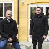 Beat Jans (l.) und Kaspar Sutter wollen die Basler Klimapolitik neu aufgleisen. (Roland Schmid / BLZ)