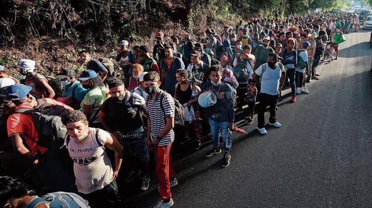 Immer mehr Flüchtlinge drängen nach Mexiko - und von dort in die USA