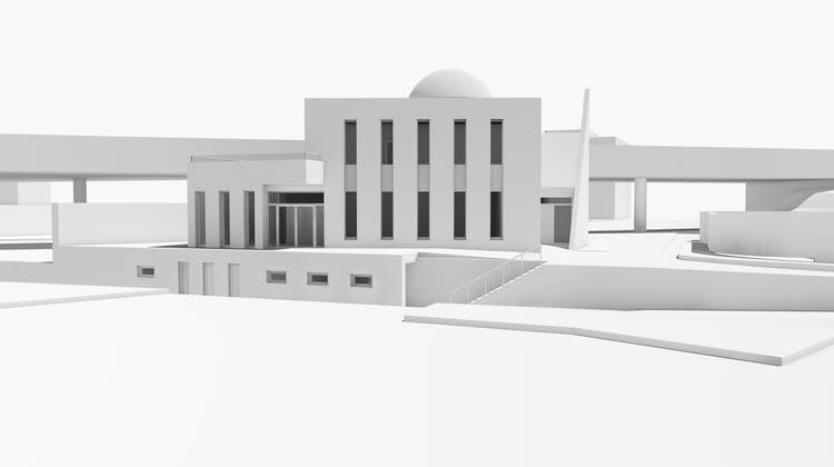 Geplante Moschee des Vereins Ahmadiyya Muslim Gemeinde Schweiz. (Zvg)