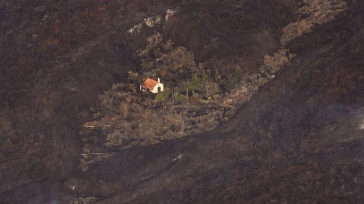 Von Lavaströmen verschont: Das «Wunderhaus» von La Palma