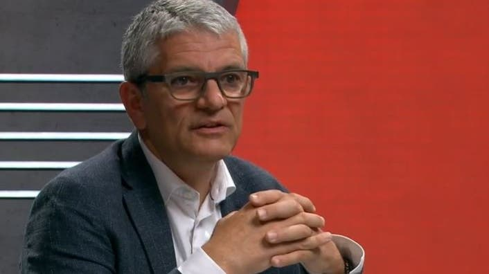 Manuel Battegay, Infektiologe am Universitätsspital Basel. (Screenshot SRF)