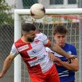 Captain Loic Chatton brachte den FCSgegen Münsingen mit seinem vierten Saisontor in der 64. Minute in Führung. (Hans Peter Schläfli)