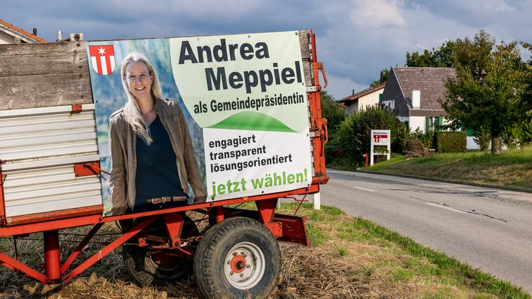 SVP-Kandidatin Andrea Meppielgelang es nicht, genügend Einwohnerinnen und Einwohner von Hofstetten-Flüh von sich zu überzeugen. (Kenneth Nars)