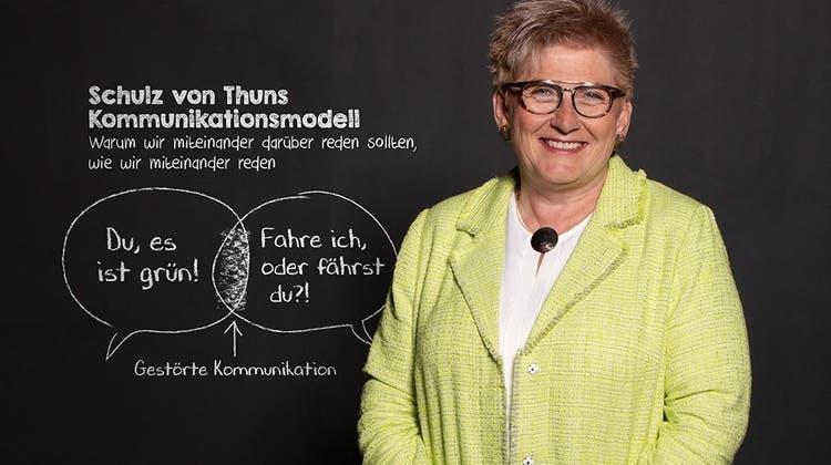 Regierungspräsidentin Beatrice Simon warb mit dem Kantonsparlament und einem breit abgestützten Komitee für den Klimaschutz-Artikel. (HO)