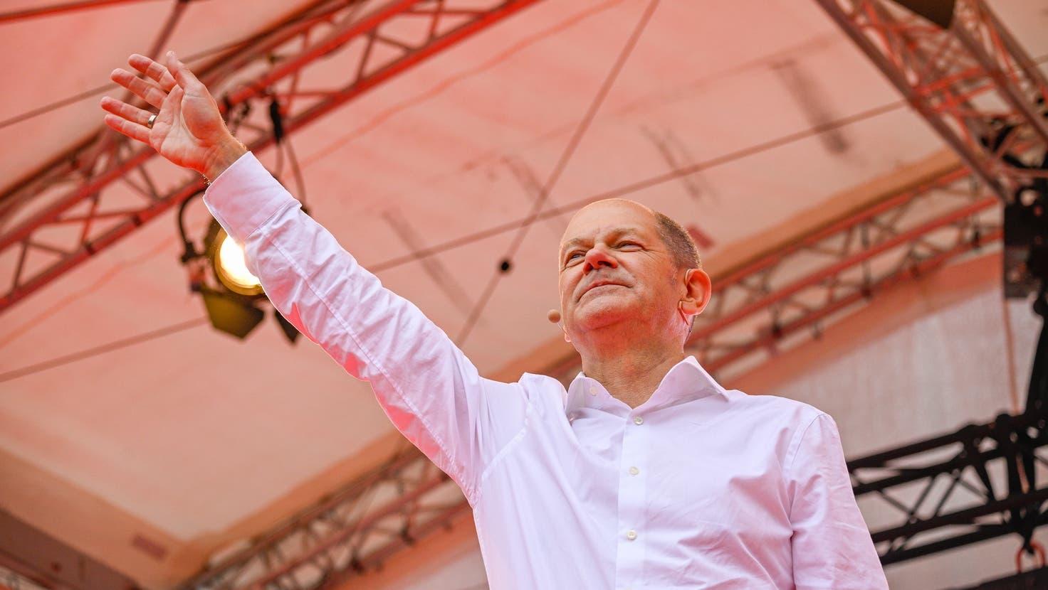 Hochrechnung: SPD knapp vorne mit24,9% - CDU/CSU bei 24,7%, Grüne bei 14,8% ++ Olaf Scholz: «Das ist ein grosser Erfolg»