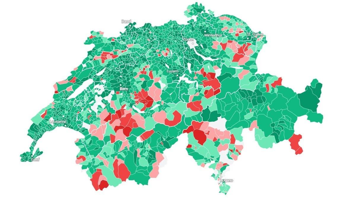 So hat Ihre Gemeinde in der Zentralschweiz zu «Ehe für alle» und «99-Prozent-Initiative» abgestimmt