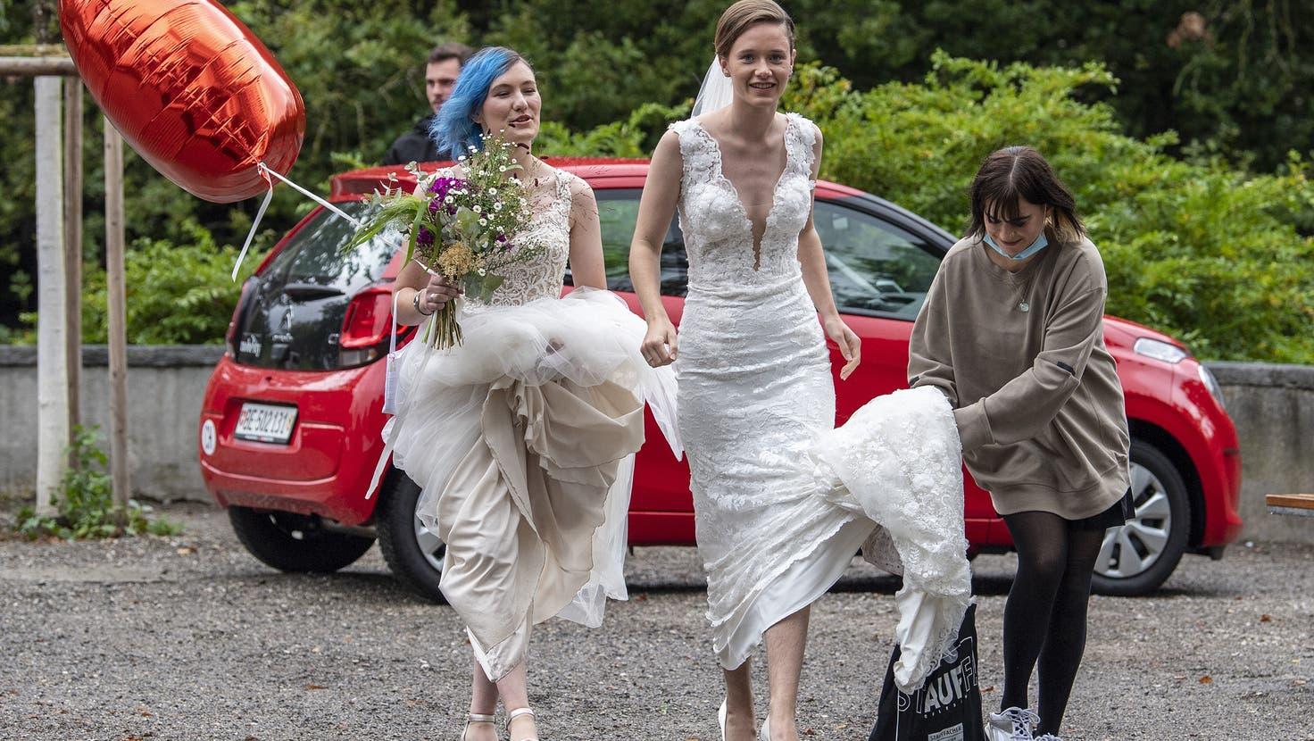 Die «Ehe für alle»-Vorlage wird in allen Ostschweizer Kantonen angenommen, in Appenzell Innerrhoden jedoch nur knapp. (Bild: Key/Peter Schneider)