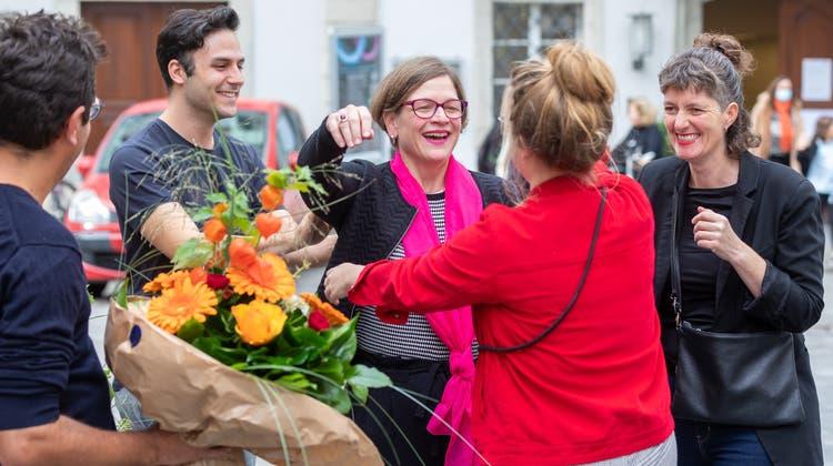 Franziska Graf-Bruppacher nimmt Gratulationen entgegen. (Fabio Baranzini)