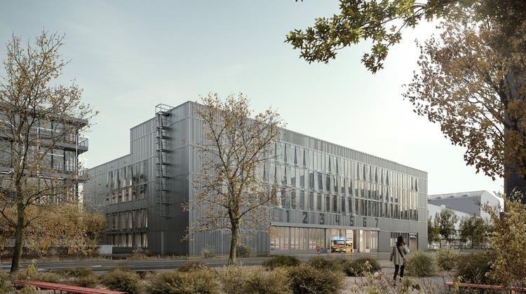 Die Wache Nord soll auf einem Areal des Elektrizitätswerks Zürich im Stadtteil Oerlikon entstehen. (Visualisierung: Maar Architektur/zvg)