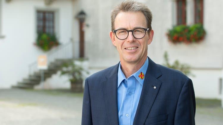 Rolf Buchser Gemeindeammann Schöftland, Schlosshof, 27. August 2021. (Alex Spichale / WYS)