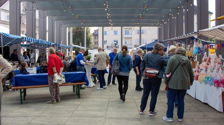 Der Herbstmarkt verband sich mit dem Tag der offenen Vereinstüren zum Jubiläumsfest
