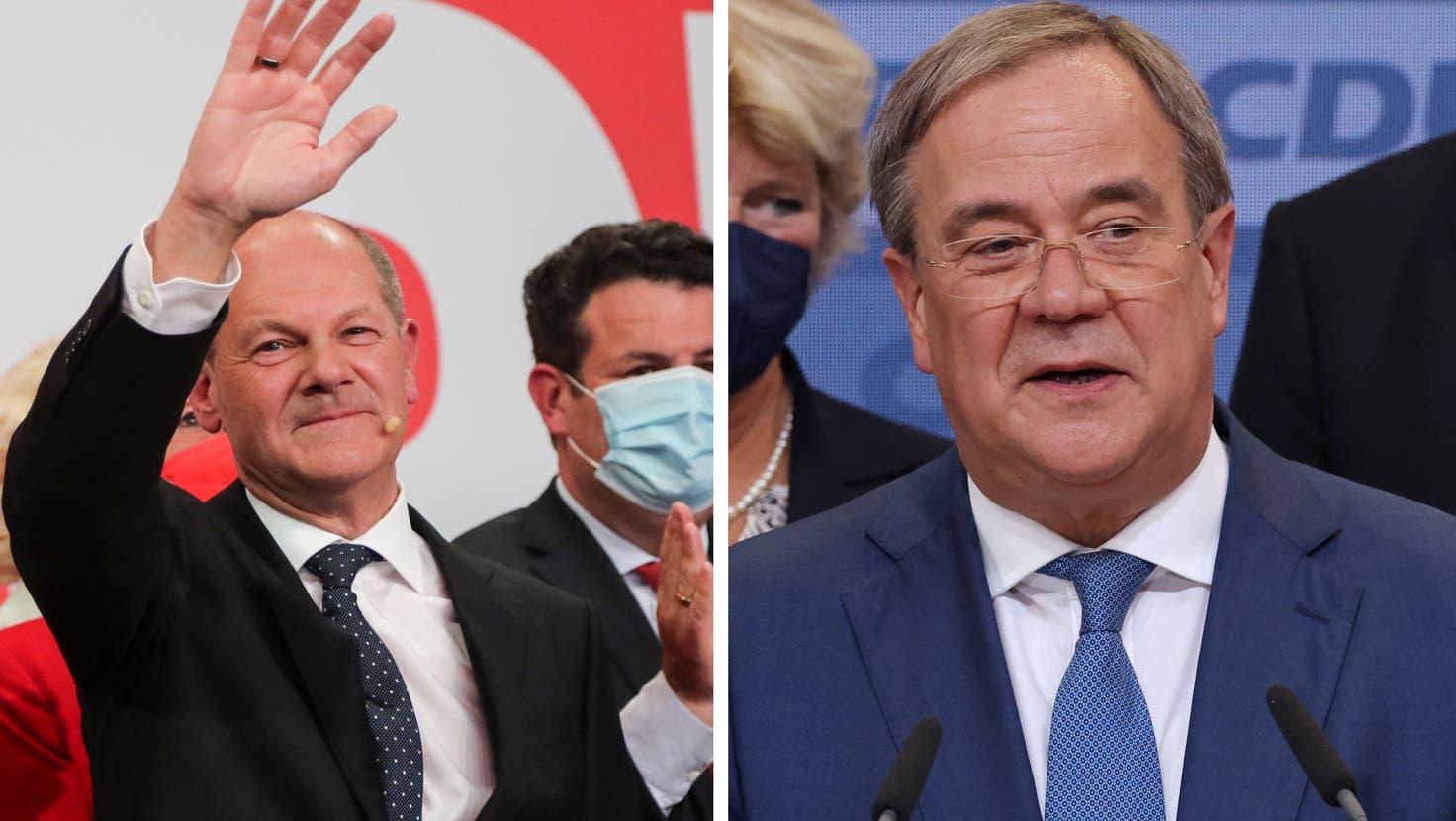 Neueste Hochrechnung: SPD baut den Vorsprung mit 25,5% aus, CDU/CSU bei 24,5% ++ Beide Parteien beanspruchen das Kanzleramt