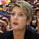 Keller-Sutter: «Wer sich liebt, soll heiraten dürfen» ++ «Ehe für alle» klar angenommen,99 Prozent-Initiative gescheitert