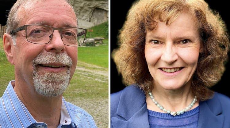 Die Mägenwilerinnen und Mägenwiler haben Peter Wiederkehr (l.) zum neuen Gemeindeammann gewählt. Marlène Fehr (r.) blieb chancenlos. (Bild: zvg)