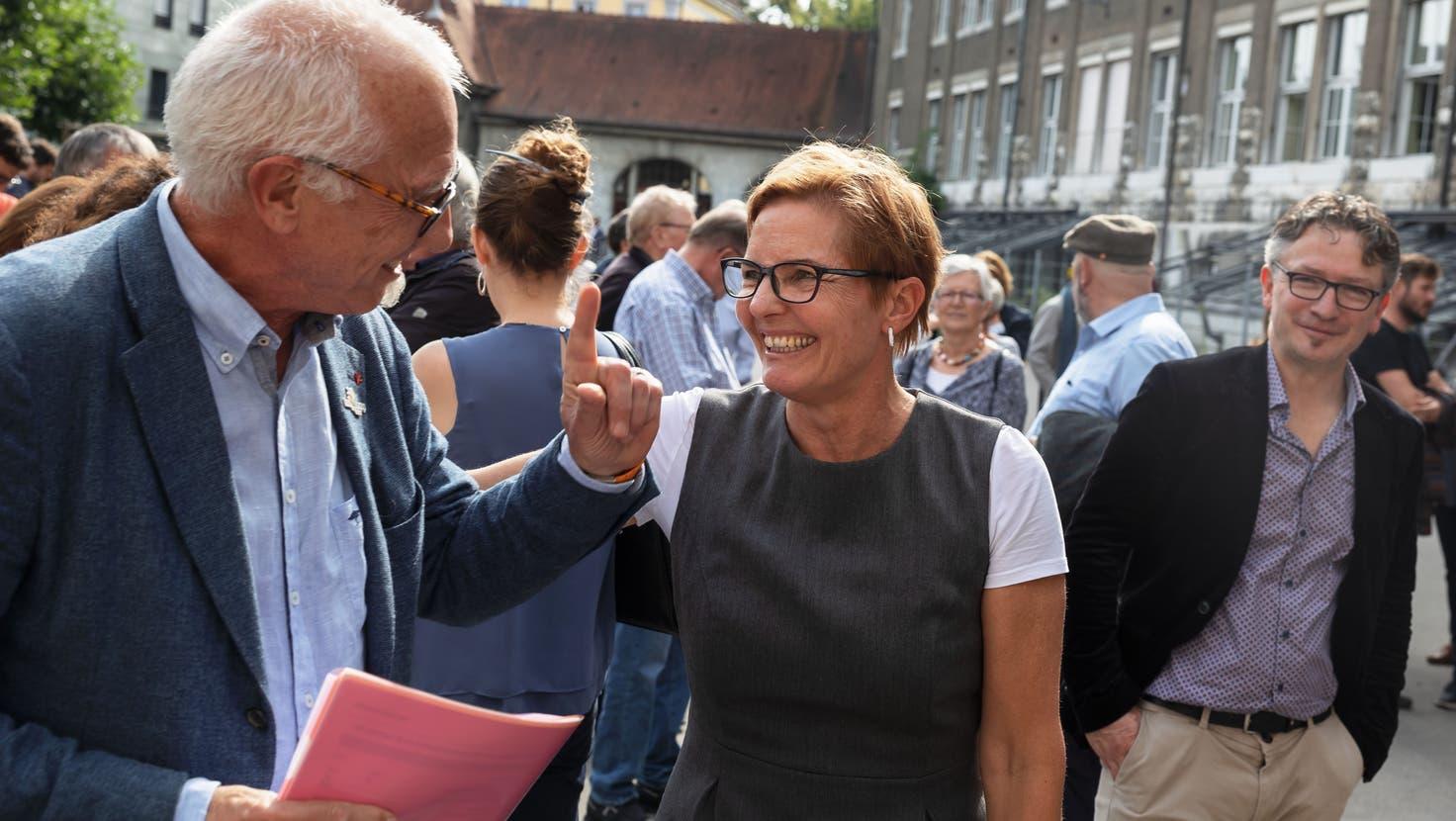 Arbeiten bald zusammen: Stadtschreiber Hansjörg Boll und die zukünftige Stadtpräsidentin Stefanie Ingold. (Hanspeter Bärtschi)