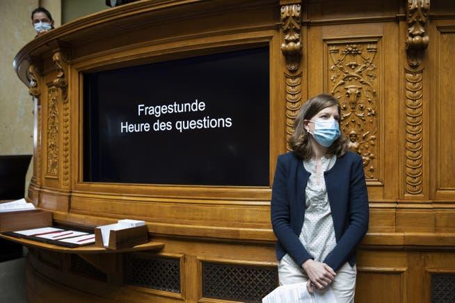 Die Berner SP-Nationalrätin Nadine Masshardt während der Fragestunde.