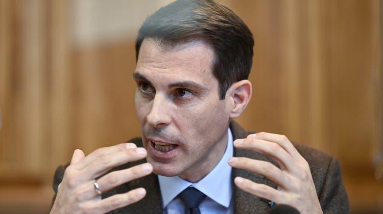 Der designierte FDP-Chef Thierry Burkart muss gewichtige Abgänge verkraften.Am Samstag soll der Aargauer Ständerat von den Parteidelegierten gewählt werden. (Bild: Alessandro Della Valle/Keystone)