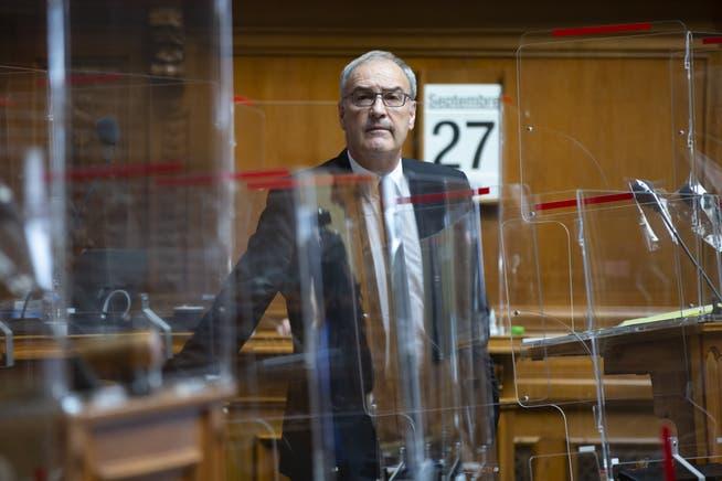 Bundespräsident Guy Parmelin während der Fragestunde im Nationalrat.