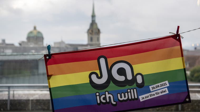 Am 26. September sagten die Stimmenden Ja zur Ehe für alle. (Bild: Keystone)