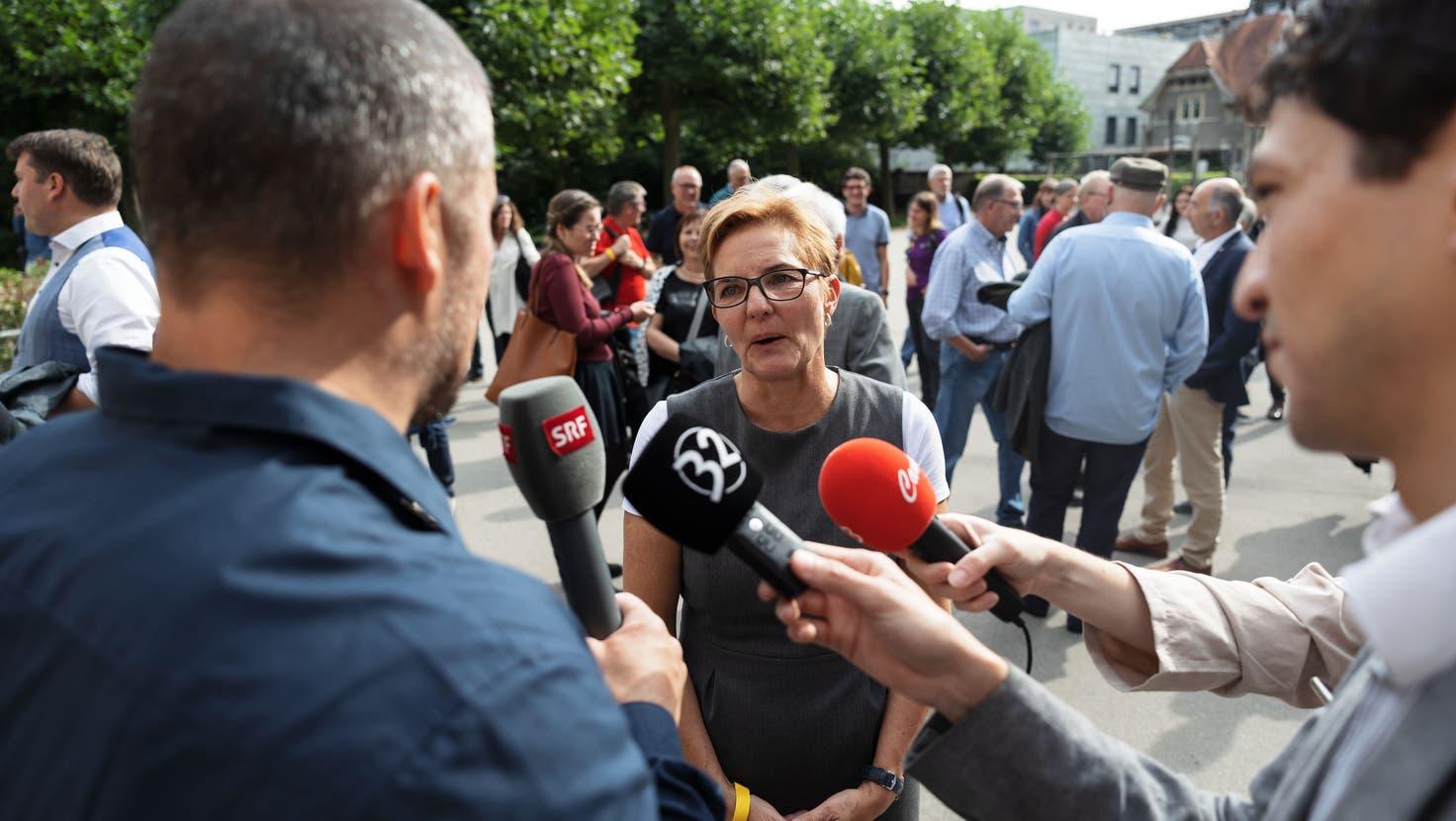 Wahlen Stadtpräsidium Solothurn: Stefanie Ingold ist gewählt. (Hanspeter Bärtschi / SZ)