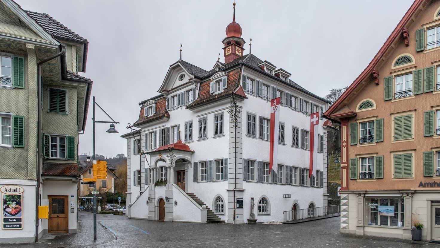 Das Regierungsgebäudein Sarnen. (Bild: Pius Amrein  (Sarnen, 1. Februar 2021))
