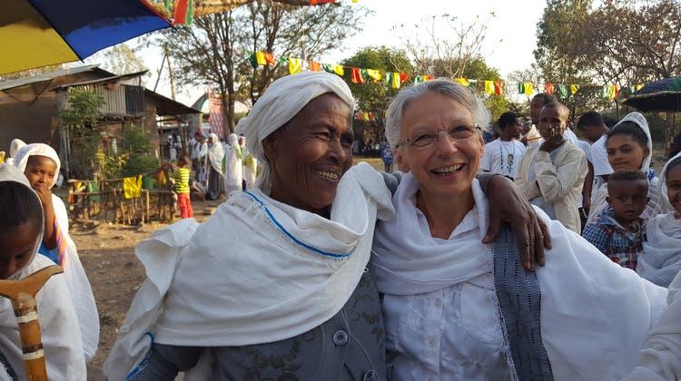 Ein Foto von Annarös Schafroth in Äthiopien. (Bild: PD)