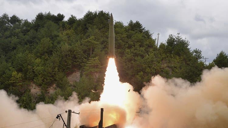 Solche Bilder bezeugen, dass Nordkorea Uranium anbaut. (Archivbild von der Regierung). (Keystone)
