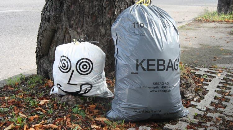 Ab 1. Januar 2022 offiziell auch in Egerkingen anzutreffen: Abfallsäcke der Kebag. (Wolfgang Wagmann/Archiv)