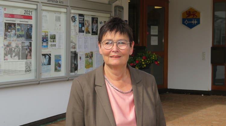Evelyn Pfister (parteilos) ist die neue Frau Gemeindeammann in Arni. (Marc Ribolla)