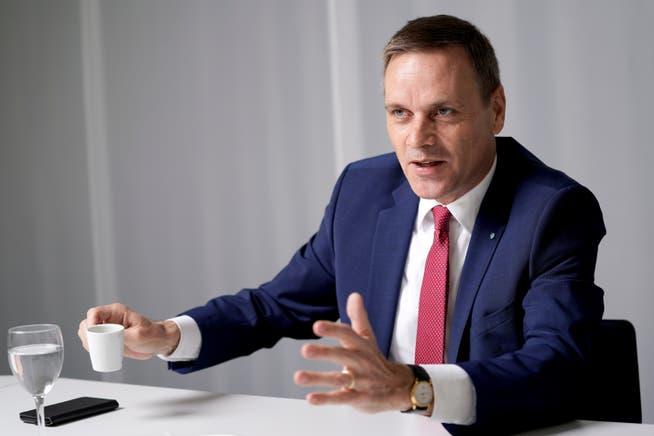 Der Aargauer Regierungsrat Jean-Pierre Gallati bei einem AZ-Interview im August.