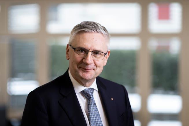 Andreas Glarner, Nationalrat und Präsident SVP Aargau, fotografiert in seinem Büro in Oberwil-Lieli im Januar.