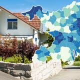 Begehrt und teuer: Einfamilienhäuser im Aargau. (Symbolbild) (Sandra Ardizzone)