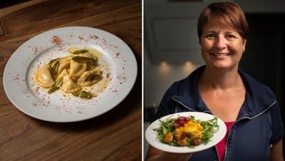 Autorin Sabine Camedda mit ihren kulinarischen Herbstkreationen.
