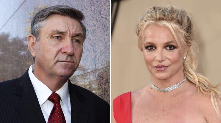 Fans feiern am 30. September 2021 den Gerichtsentscheid über die Vormundschaft Britney Spears in Los Angeles. (Caroline Brehman/EPA)