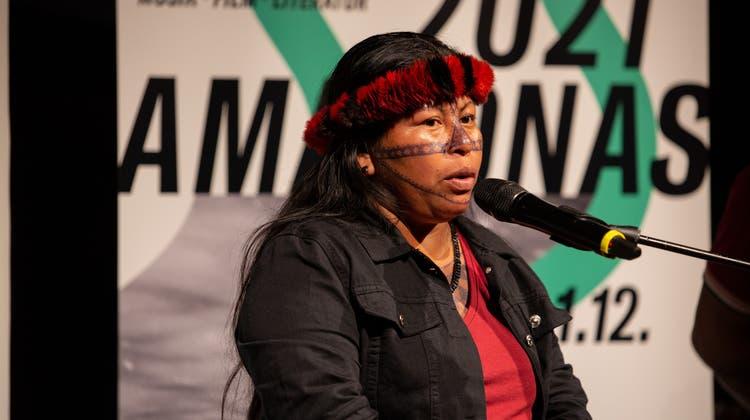 Menschenrechtsaktivistin Alessandra Korap Munduruku. (zvg/Bettina Matthiessen)