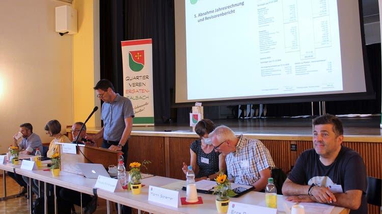 Der Quartierverein Ergarten-Talbach verabschiedet Präsident Fredy Meier