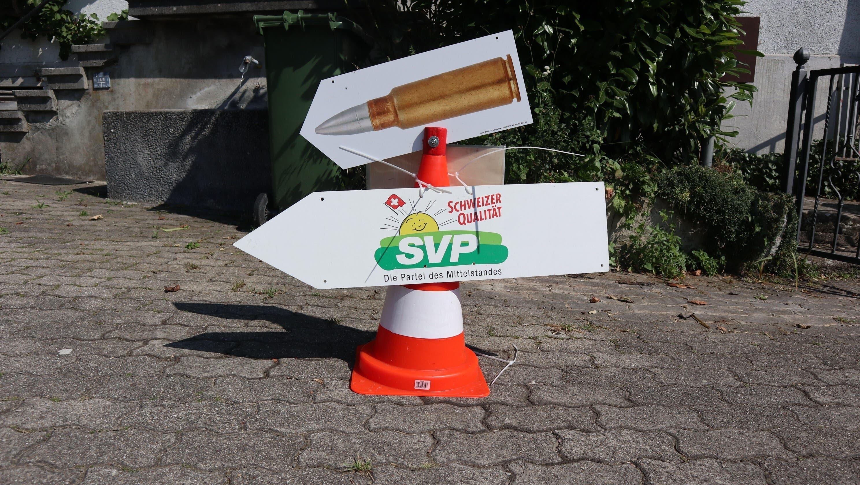 Wer zum diesjährigen kantonalen SVP-Schiessen wollte, musste nur den Wegweisern folgen.