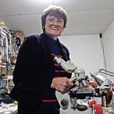 Katalin Karikó, die mRNA-Forscherin der ersten Stunde und Entwicklerin des mRNA-Impfprinzips im Labor, dort wo sie am liebsten ist. (Matthew Mcdermott/Polaris)