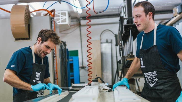 Andreas Dobler undDano Waldburger (r.) von Timbaer kennen sich seit der Berufsschule. (HO)