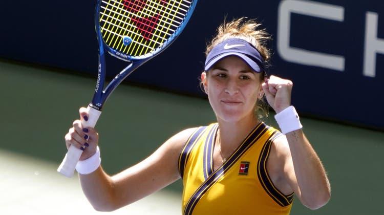Belinda Bencic steht bei den US Open in den Viertelfinals. (Elise Amendola / AP)