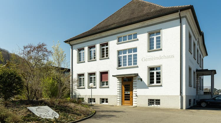 Das Gemeindehaus von Mägenwil (20. April 2020). (Chris Iseli)