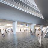 So soll der Durchgangsbahnhof Luzern aussehen. (Visualisierung: SBB)