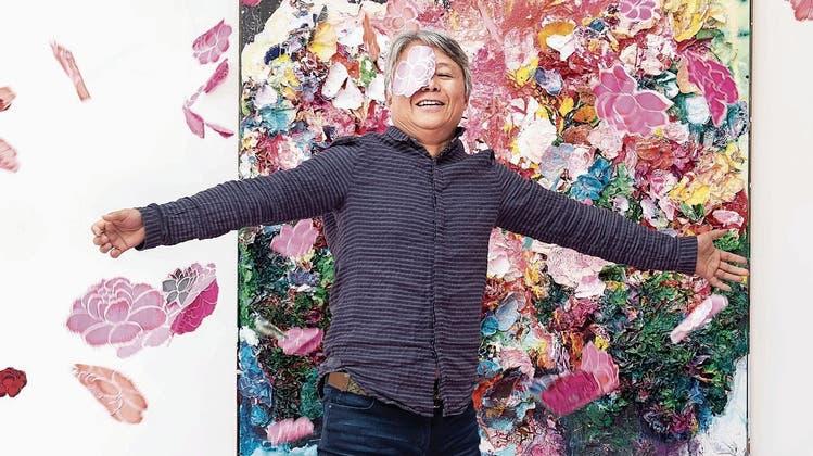 Zhuang Hong-yi und die Freiheit der Blumen. (Bild: Boris Bürgisser (Luzern, 3. September 2021))